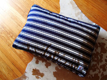 Matching Bed Nautical Navy Blue Stripe