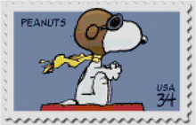 Snoopy Flying Ace USPS Postage Stamp