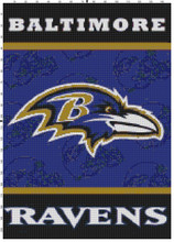 Baltimore Ravens Helmets Flag