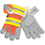 Memphis 1440 Luminator Leather Gloves - Hi-Viz Reflective Back Driver's Gloves