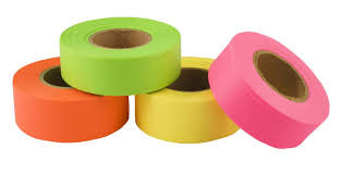 Flagging Tape - Fluorescent (Glo) Colors - from CSP Outdoors