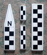 Mini North Arrow/Metric Scale Set