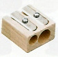 Double-Hole Beechwood Pencil Sharpener