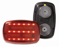 LED Battery Operated Magnetic Safety Flasher - SHOWN IN RED, BUT ONLY HAVE CLEAR LEFT IN STOCK