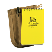 Rite in the Rain Pocket Memo Standard Field Kit - #135 - includes a 135 Top-Spiral Note book, a Tan Cordura Field Pouch  and a #97 Black All-Weather Tactical Clicker Pen.
