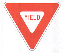 "36"" Yield Sign from CSP Outdoors"
