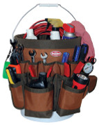 Bucket Boss 10056 Bucket Tool Organizer - 56 Pockets - shown with auto tools and supplies  - at CSPOutdoors.com