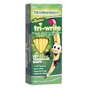 Dixon Ticonderoga Laddie Tri-Write Intermediate Size Pencils