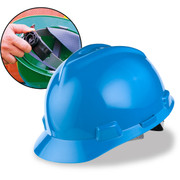 MSA Cap Style Hard Hats with Fas-Trac Ratchet Suspension - 475359 BLUE