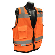 Radians Class 2 Heavy Duty Surveyor Vest - FRONT VIEW - ORANGE