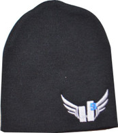 Beanie - Light Grey with Royal Blue 9