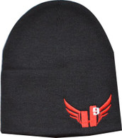 Beanie - Red with Light Grey 9