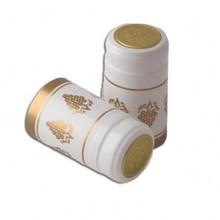 White w/ Gold Grapes PVC Capsules