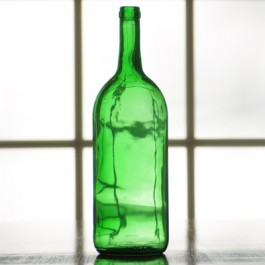 1.5 Liter Emerald Green Bordeaux Bottle, case pack of 6