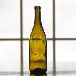 750 ml Antique Green Punted Burgundy Bottle, case pack of 12