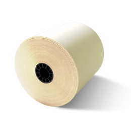 "3 1/4"" x 67' White/Canary/Pink 3-Ply Carbonless Paper (50 Rolls)"