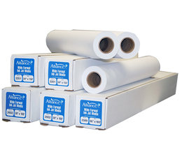 "Alliance Imaging Products 24304 24"" x 300' Ink Jet Bond 1 Ply 24# 2"" ID Core 2 Rolls Per Case"