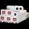"24"" x 150' Ink Jet Bond Plotter Paper 1 Ply 20# 2"" ID Core 4 Rolls Per Case"