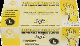 Great Glove - Soft Nitrile Powder-Free Gloves - Case