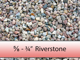 "5/8"" - 3/4"" Colourful Riverstone"