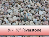 "3/4"" - 1 1/2"" Colourful Riverstone"