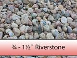 "3/4"" - 1 1/2"" Colourful Riverstone"