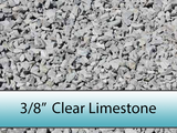 "3/8"" Clear Drainage Limestone"
