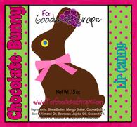 Chocolate Easter Bunny Lip Balm - Pink Color Theme