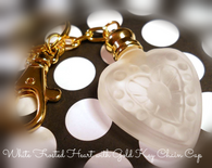 Frosted Heart Bottle with Gold Key Chain Cap