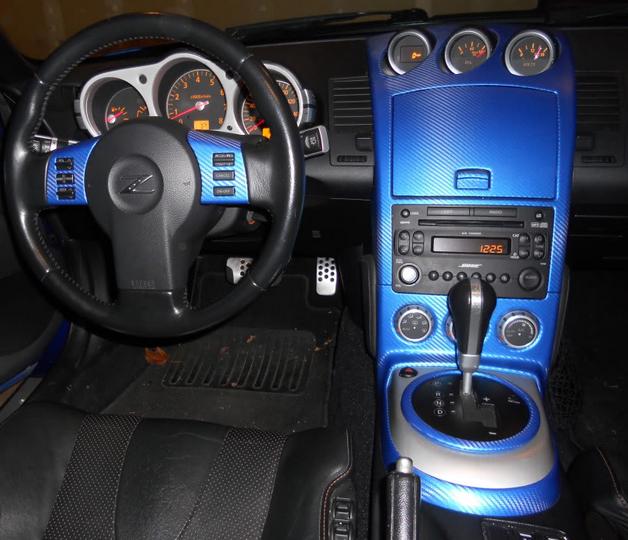 Blue carbon fiber car wrap images for Carbon interieur