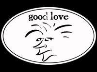 "Salty Head ""good love"" Tribal Vibe Sticker"