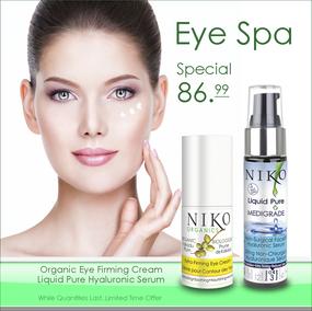 Eye Spa Kit - Organic Kakadu Extra-Firming Eye Kit + Liquid Pure Hyaluronic Serum