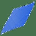 Diamond Cut Silk 36 inch (BLUE) by Magic by Gosh - Trick