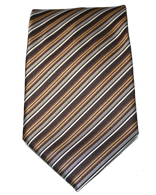 Brown stripped   Tie