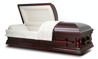 Elite Mahogany Finish Cremation Casket