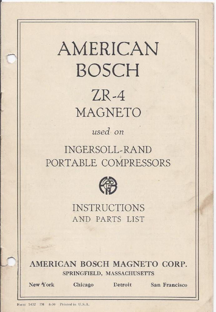Magneto Rx Bosch American Bosch and Robert Bosch