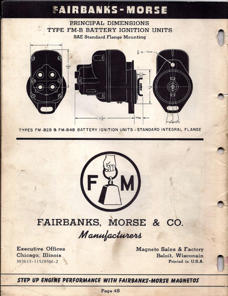 fm85d apln info 1952 skinny p48?t=1479802198 fairbanks morse magneto replacement information 1952 fairbanks morse magneto wiring diagram at creativeand.co
