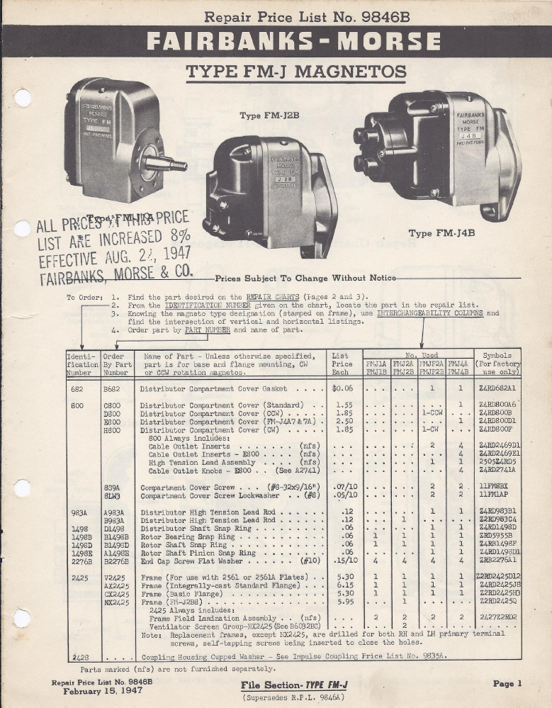 fmj pl 1 skinny magneto rx fairbanks morse fmj series parts list 1947 fairbanks morse magneto wiring diagram at gsmportal.co