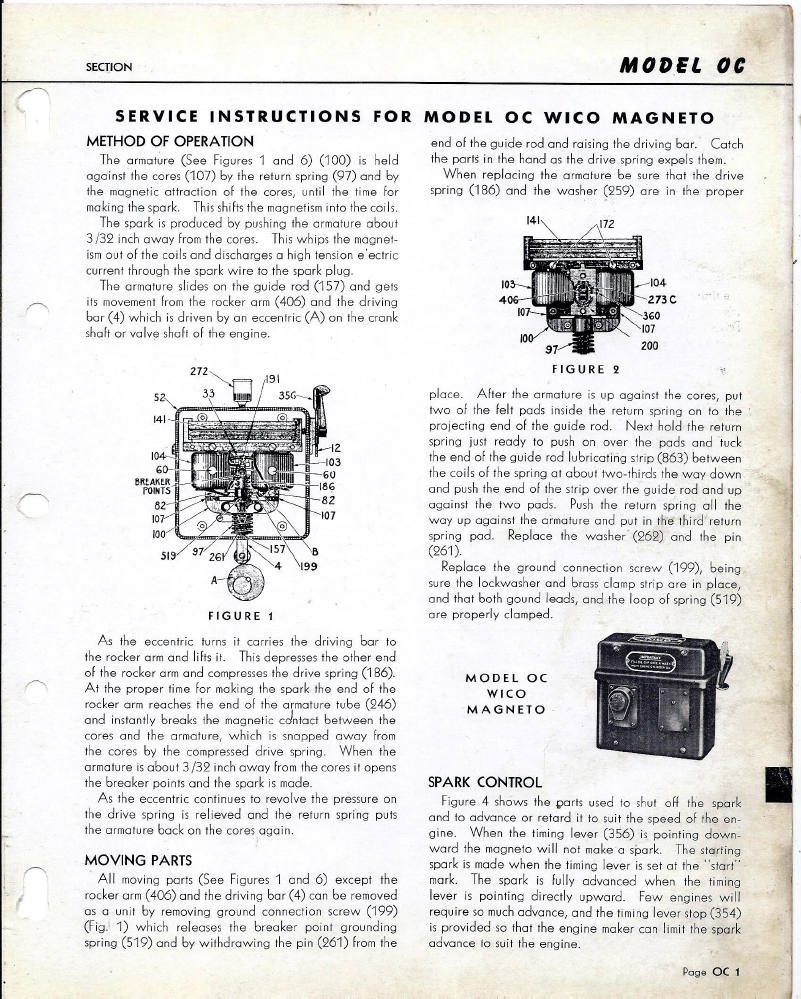 Wilco Magneto Wiring Schematic Free Download Diagrams Hunt Diagram Wico Oc Service Manual On For