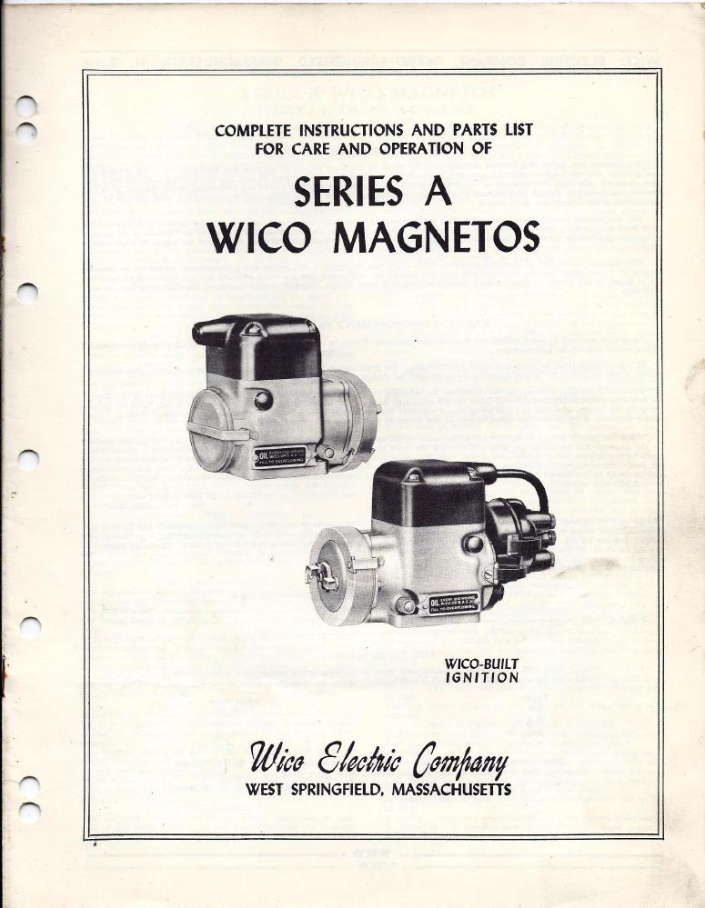 wico a magneto service information rh oldcroak com E198635 Wiring Schematic Magneto Cap Wiring Schematic