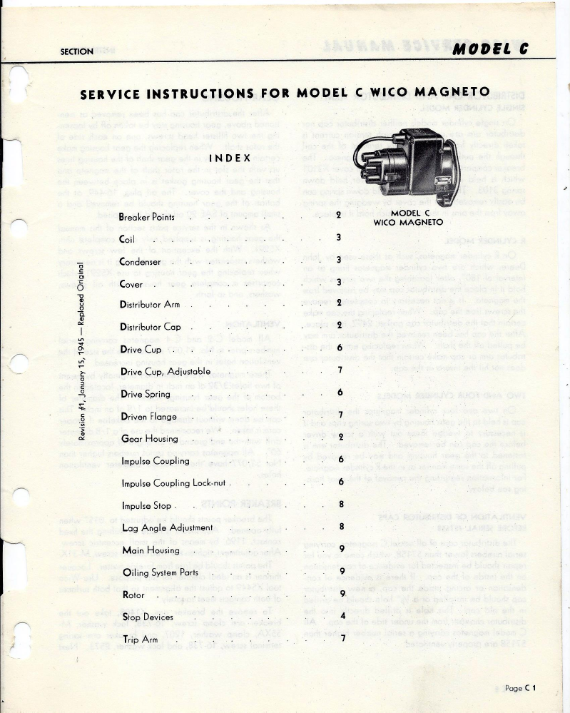 wico c magneto service manual rh oldcroak com Tommy Wico Wico Magneto Model X