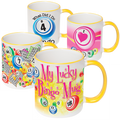 Yellow Trim Bingo Coffee Mug