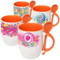 Spoon and Cup Orange Bingo Coffee Mug
