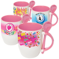 Spoon and Cup Pink Bingo Coffee Mug