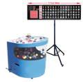 Professional Table Top Bingo Blower with Round Front, 5' Flashboard, Stand and Verifies