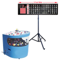 Professional Table Top Bingo Blower with Round Front, 8' Flashboard, Stand and Verifies