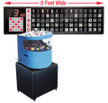 Professional Table Top Bingo Blower with Round Front, 8' Flashboard, Base and Verifies