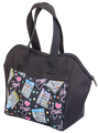 6 Pocket I Love Bingo Black Pattern Tote Bag