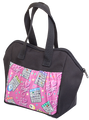 6 Pocket I Love Bingo Pink Pattern Tote Bag