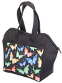 6 Pocket Butterfly Pattern Tote Bag